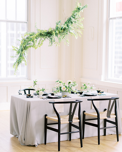 Modern and elegant wedding reception