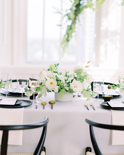 Elegant wedding reception with neutral color palette