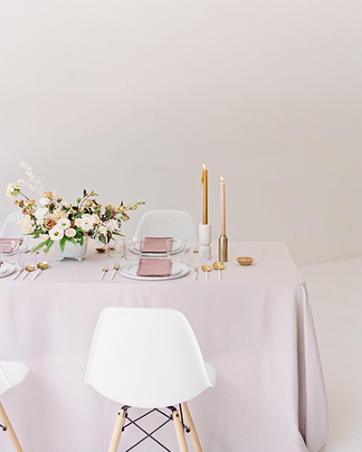 Modern blush wedding reception