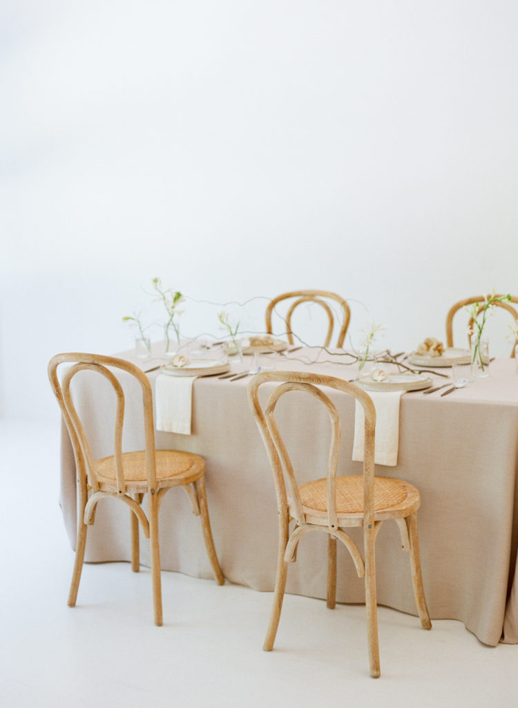 Minimal wedding table design