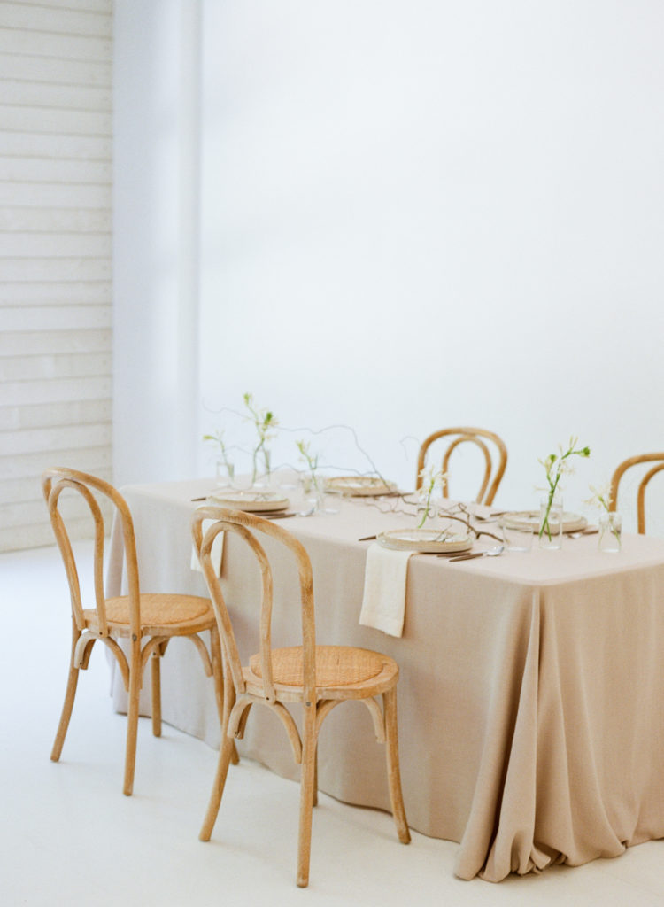 Minimal wedding reception design
