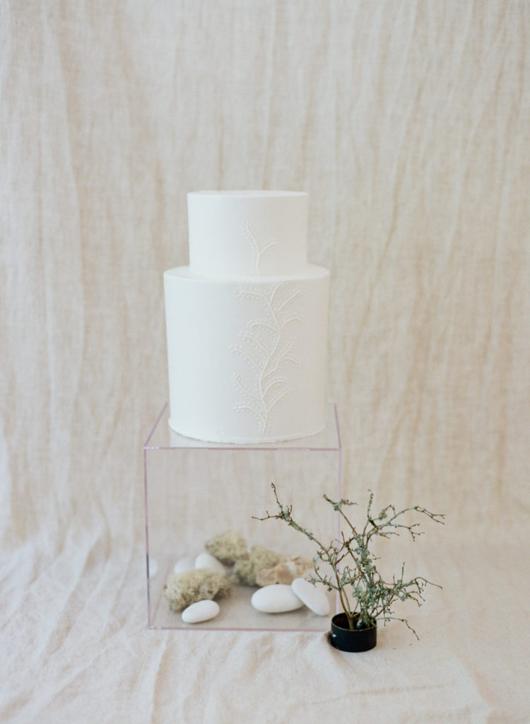 Cake with branch detailing