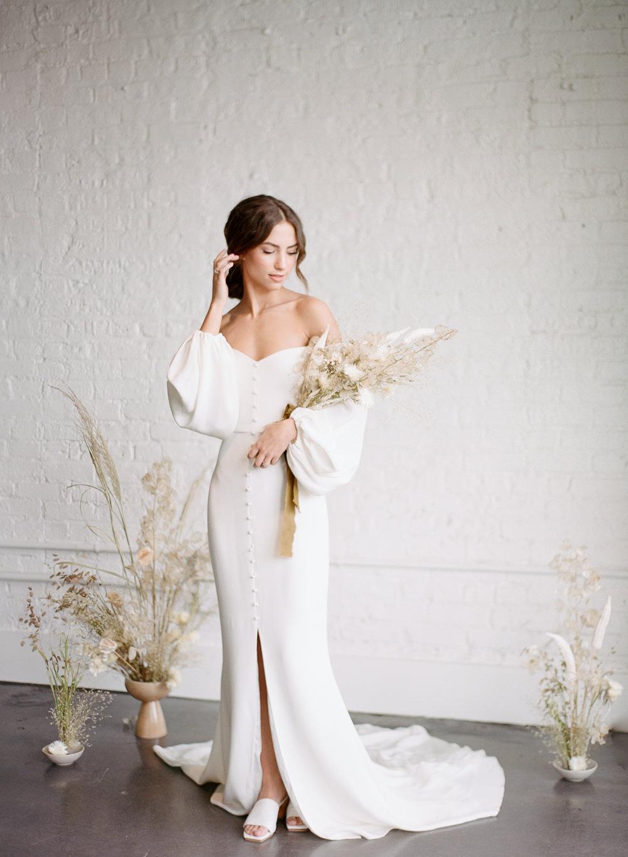 Bride in modern attire