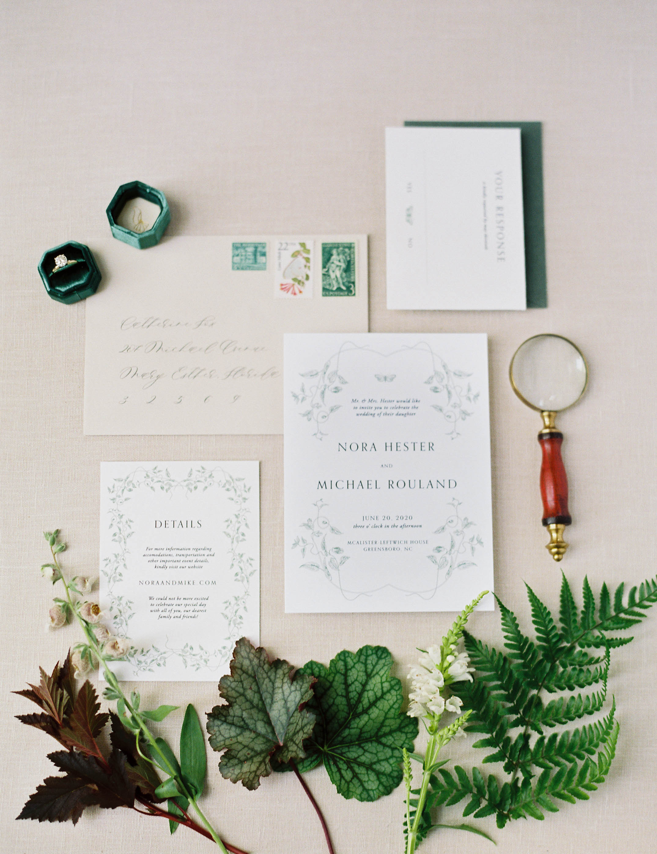 Botanical stationery suite