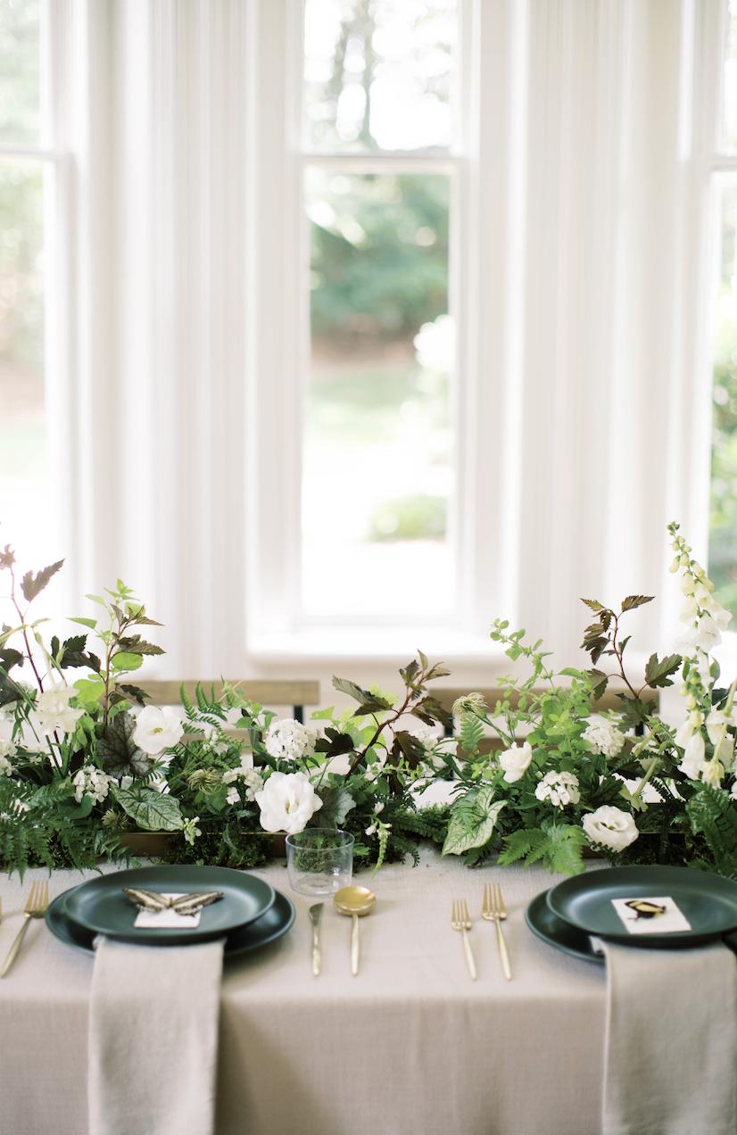 Full floral table runner - Wylde Flowers