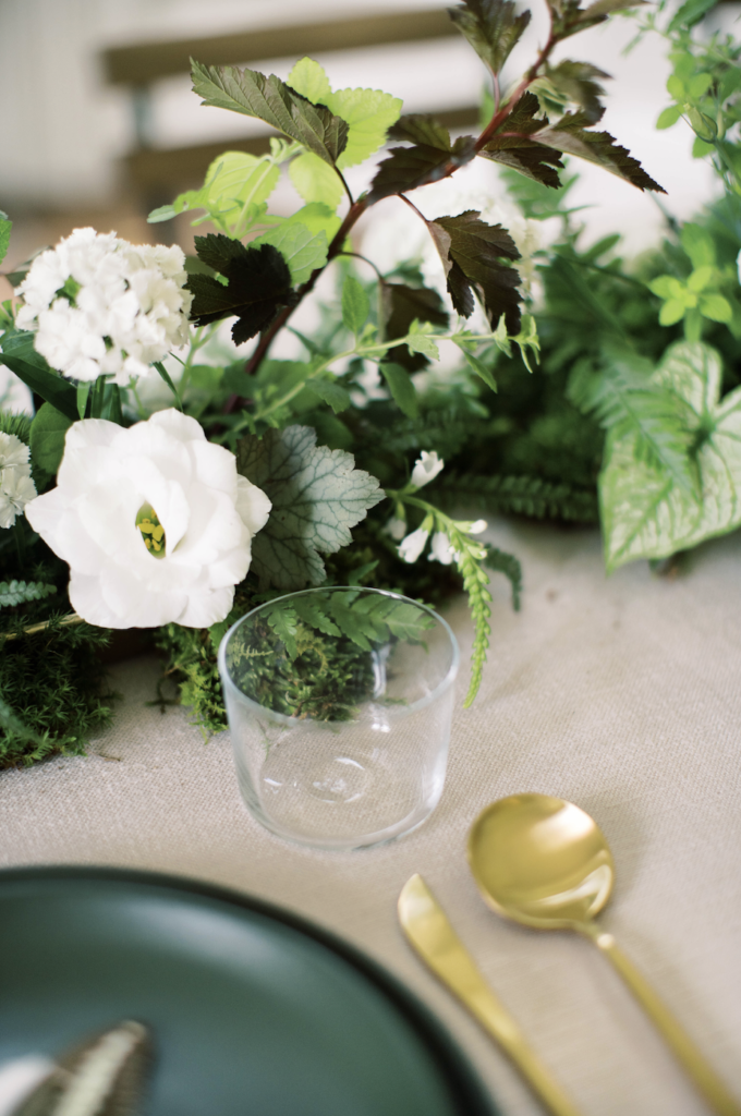 Modern botanical tablescape