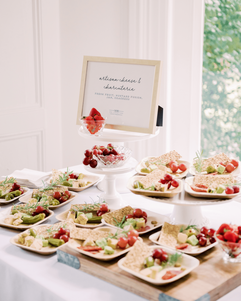 Corrie-and-Kevins-Fall-McAlister-Leftwich-House-Wedding-Kelsey-Nelson-Photography-Cheese Display