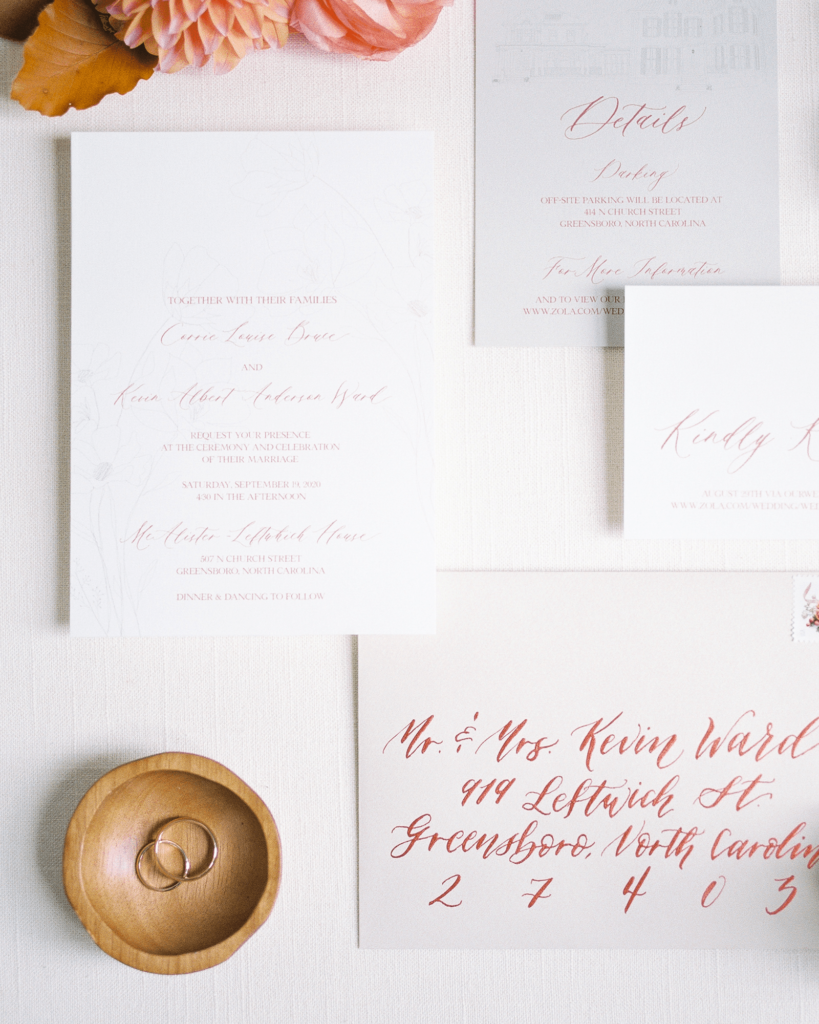 Corrie-and-Kevins-Fall-McAlister-Leftwich-House-Wedding-Kelsey-Nelson-Photography-Stationery Suite